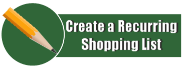 Create a recurring Shopping List