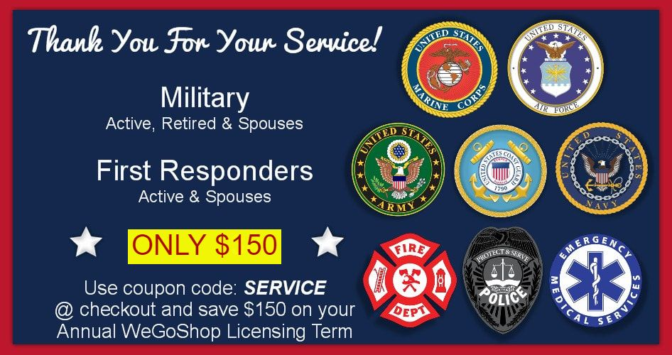 Military and First Responder Discount To Start Your Own WeGoShop Grocery Delivery Business