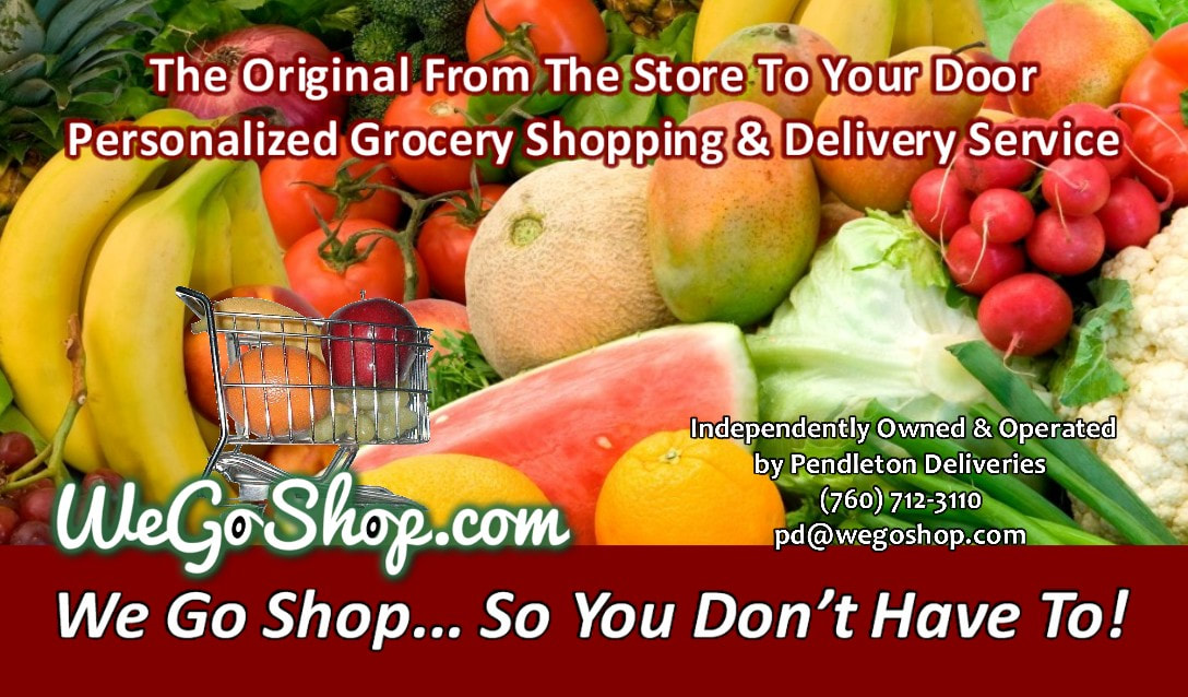 WeGoShop Grocery Delivery Provided by Pendleton Deliveries